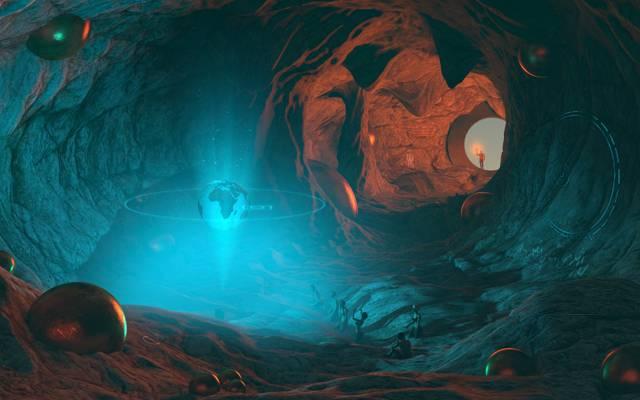 人类的寺庙,洞穴,人民