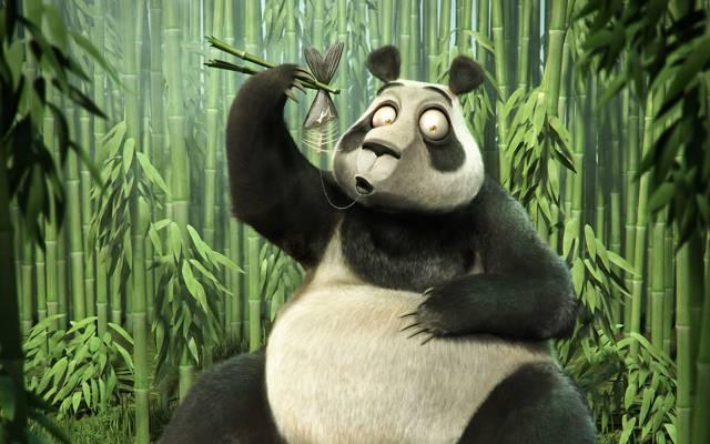 竹子,鱼,骨头,熊猫