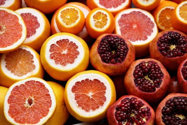 去皮的柑橘类水果高清壁纸