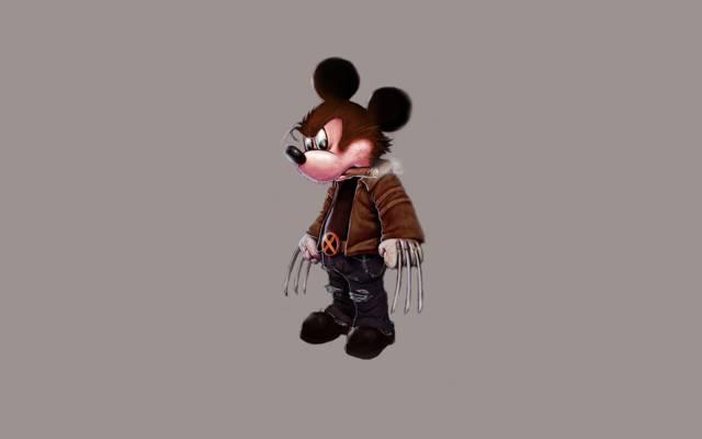极简主义,金刚狼,迪士尼,x战警,金刚狼,米老鼠,米老鼠,雪茄