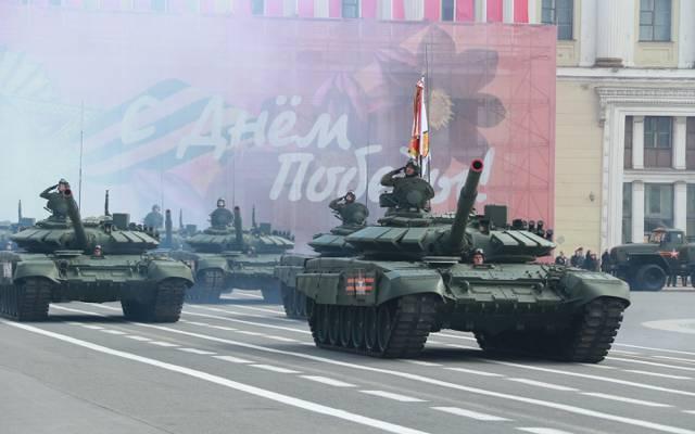 游行,5月9日,T-72,坦克