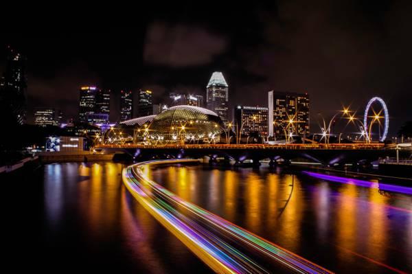 时间推移摄影的城市灯光路夜间时间高清壁纸