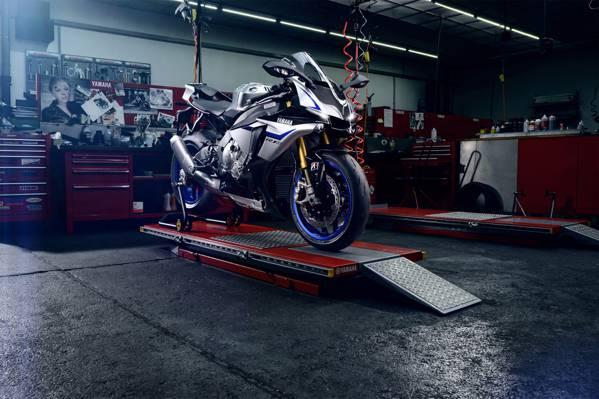 赛车,超级摩托车,R1M,蓝色,碳,耀斑,雅马哈,摩托车,科隆