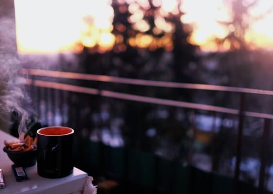 黑陶瓷杯子高清壁纸