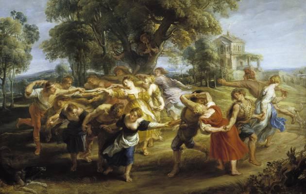 风景,彼得保罗鲁本斯,彼得保罗鲁本斯,流派,图片,意大利农民舞蹈