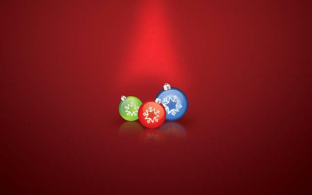 球,装饰,圣诞节,新年,假期