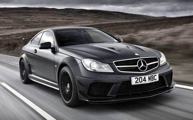 黑色版,梅赛德斯 - 奔驰,轿跑车,道路,AMG,超级跑车,奔驰,黑色,黑色系列,ц63,正面,C63,...