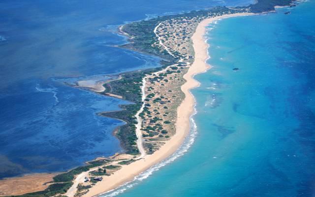 海,从顶部,科孚岛,希腊,海岸的看法
