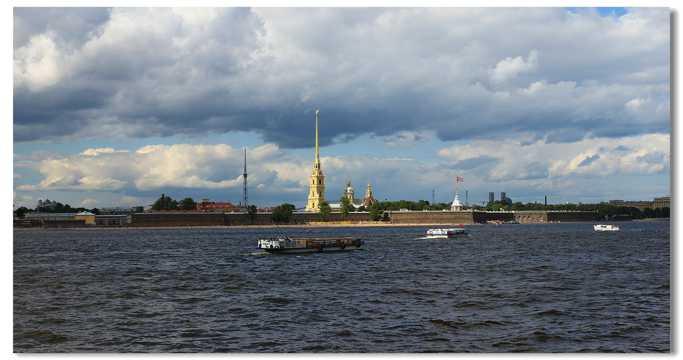 俄罗斯涅瓦河两岸风景图片
