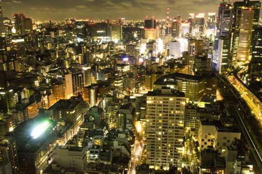 日本东京夜景高清图片