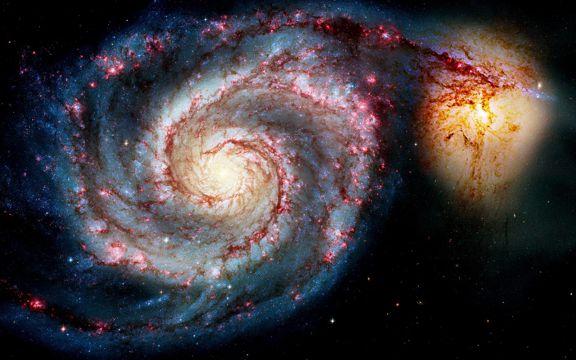 宇宙中的星系图片