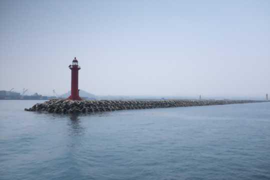 海岸码头灯塔景观图片