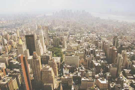 纽约曼哈顿都市建筑自然风光图片
