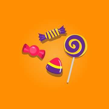 万圣节糖果背景图片