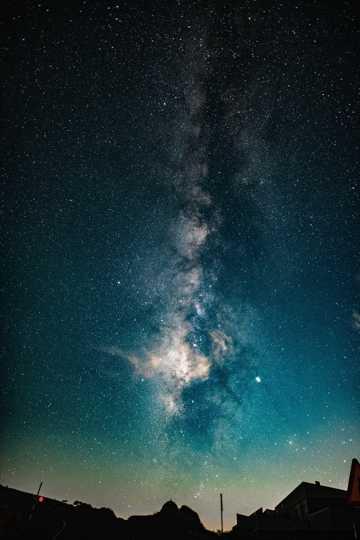 唯美蓝紫色夜空图片