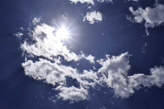 高空阳光云彩图片