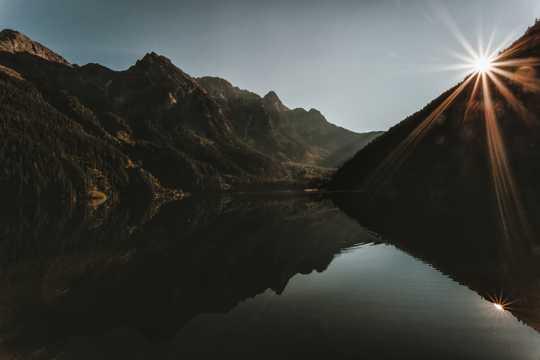 晨光山川风光图片