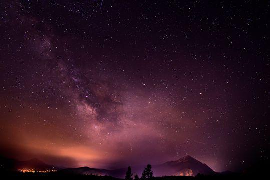 夜空自然风光图片