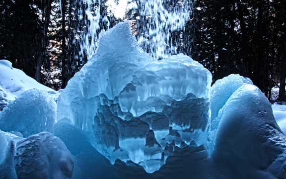 冰块艺术拍照图片