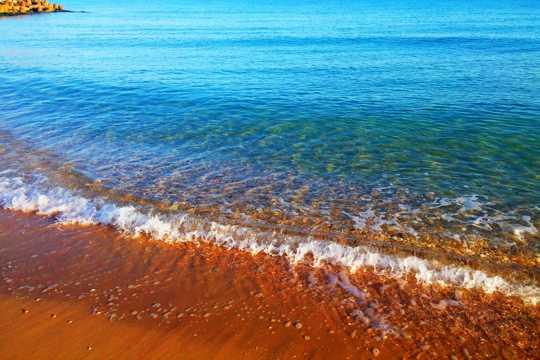 海洋海滩浪花图片