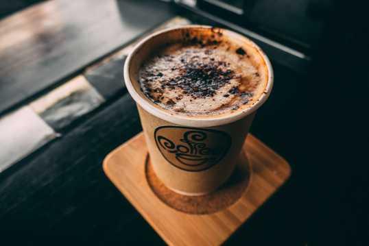 巧克力酱咖啡拉花图片