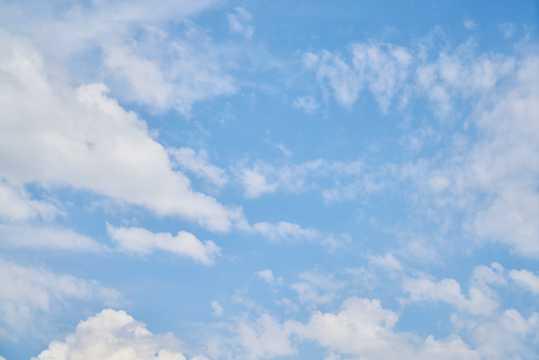 天空飘云景色图片