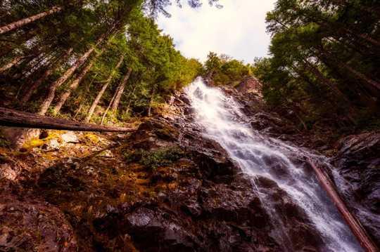 山川瀑布景色图片