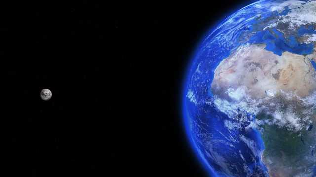 宇宙中的地球自然风光图片