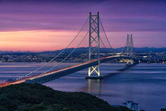 日本濑户大桥建筑风光图片