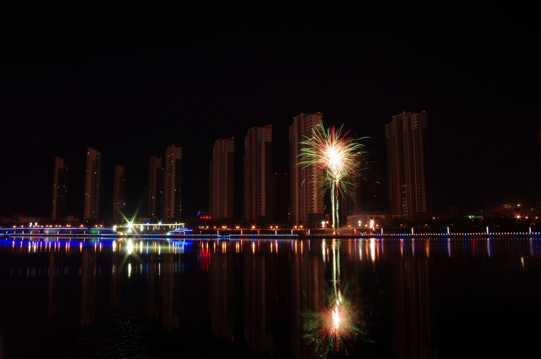 黑龙江齐齐哈尔大学夜景图片