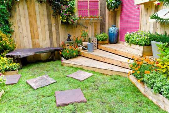 私家花园风光图片