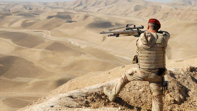 叙利亚持枪的士兵