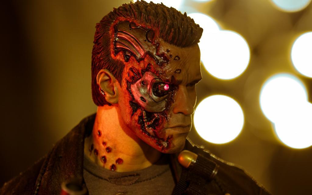 玩具,T-800,终结者,机器人,雕像