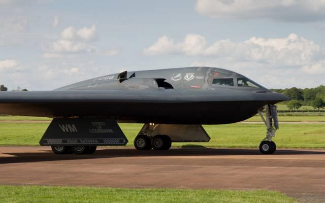 战略,B-2A精神,诺斯罗普,轰炸机,机场