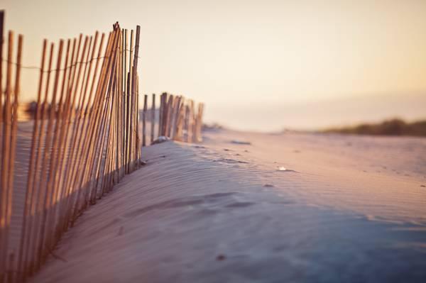 沙丘,大自然,栅栏,沙子