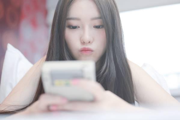 女孩,嘴唇,背景,亚洲人,脸,头发