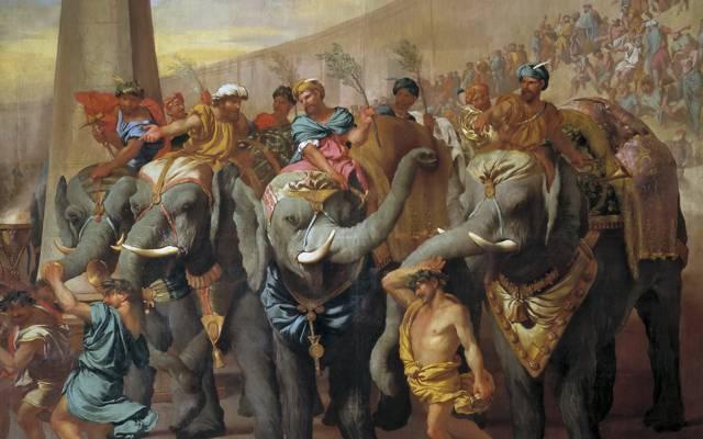 Andrea di Leone,流派,马戏团的大象,图片