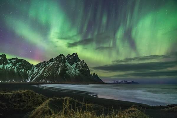 极光插图,冰岛高清壁纸
