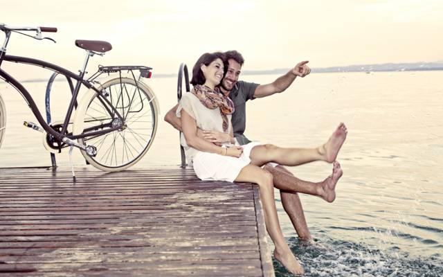 对,穿孔,自行车,关系,爱情