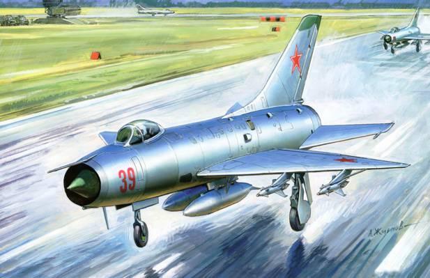 翼,艺术,复合材料,飞机,苏联,单引擎,防风雨,作为,世界,拦截器,战斗机,创建,单,...