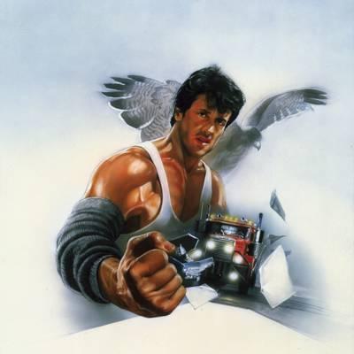 卡车,海报,鹰,西尔维斯特·史泰龙,艺术,迈克,拳头,挣扎,图,西尔维斯特·史泰龙,手臂摔跤,超过...