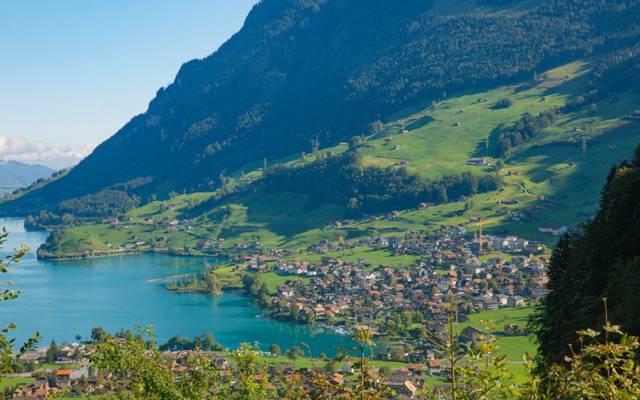 瑞士卢塞恩的唯美风景