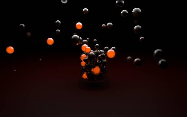 黑色,球,橙色