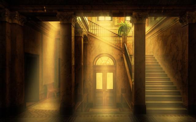 梯子,阳光,里特贝格,博物馆
