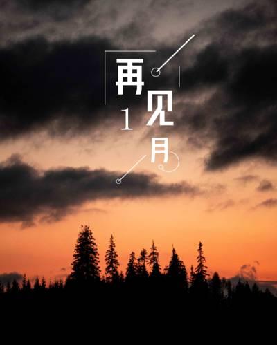 一月再见唯美黄昏配图