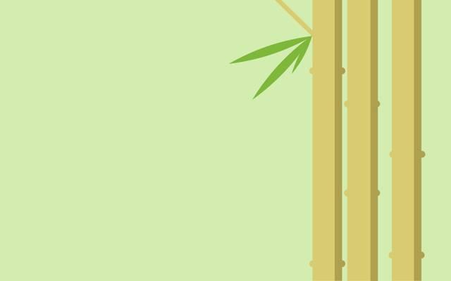 竹,茎,植物,叶子