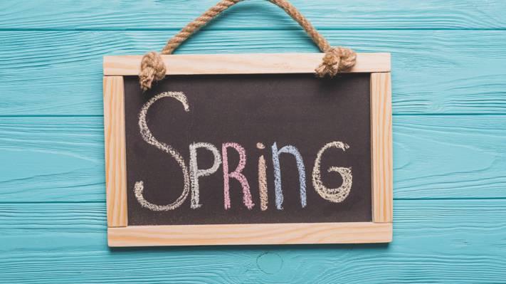 迎接春天的图片