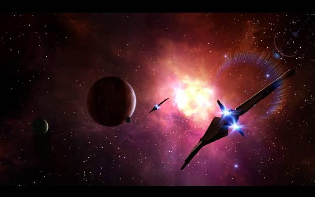 空间,星球,宇宙飞船,艺术,星球,艺术,星光,空间