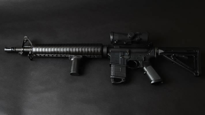 武器,突击步枪,背景,登山扣