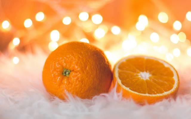 橘子,橙,水果,食品,心情,新的一年,毛皮,散景,组成,圣诞节,假期,柑橘